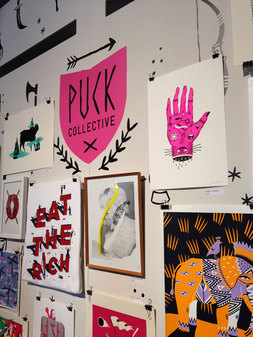 Puck Collective artwork display