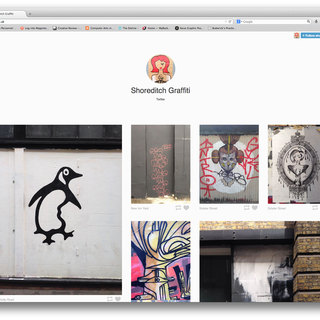 Screenshot of Shoreditch Graffiti website