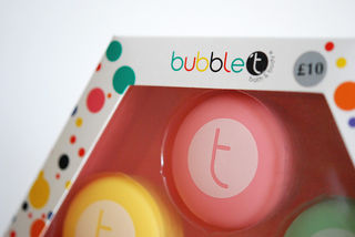 Bubble T at BHS macaroon lip balm packaging