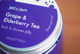 View of the top of one of the shower jelly pots