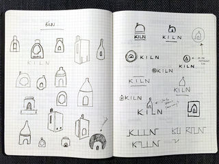 Some of my initial sketches for Kiln, playing around with different shapes based on actual Kilns.