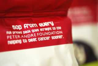 Detail on the top of the bag