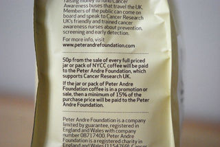 Side of the coffee bag