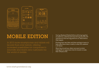 A page providing more information about the mobile edition